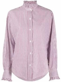 Isabel Marant Etoile полосатая рубашка с оборками на воротнике CH067320A041E