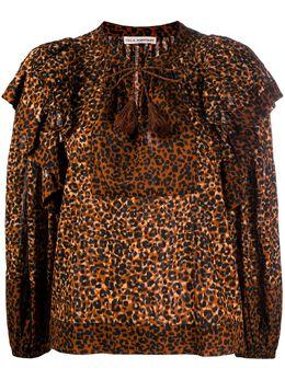 Ulla Johnson блузка Carissa с леопардовым принтом PF200226