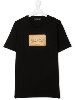 Young Versace футболка с логотипом YD000323YA00079