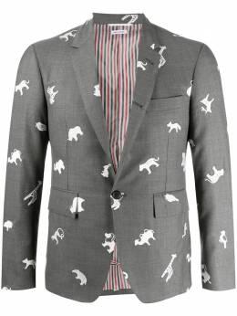Thom Browne пиджак с узором MJC001A06882