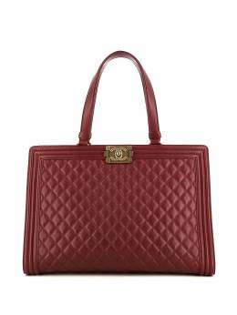 Chanel Pre-Owned сумка-шопер Boy с замком 338501