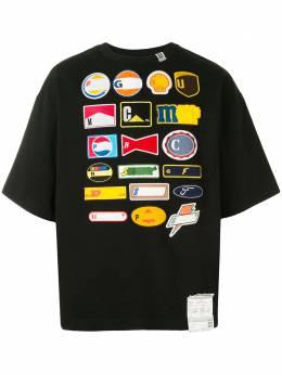 Maison Mihara Yasuhiro футболка с нашивками A05TS662