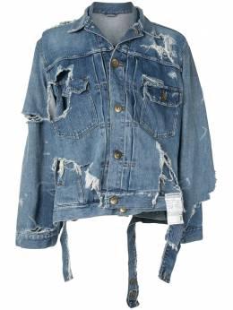 Maison Mihara Yasuhiro джинсовая куртка Broken Layer A05BL022