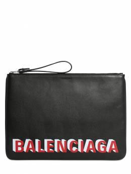 Кошелек Из Кожи С Принтом Balenciaga 72IOFX002-MTA2NQ2