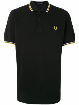 Fred Perry рубашка поло с отделкой в полоску и логотипом M3600