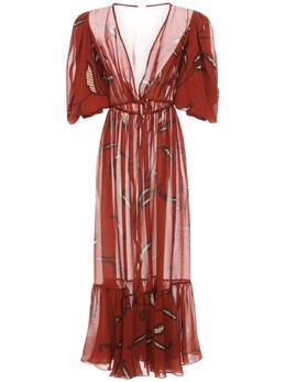 Платье Из Двойного Жоржета С Принтом Johanna Ortiz 72IXDO006-Q09QUEVSIFBPVA2