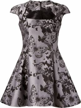 Martha Medeiros flared jacquard dress IN15VE01JACARDBORBOLETA