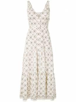 A.L.C. расклешенное платье миди с вышивкой 6DRES00980