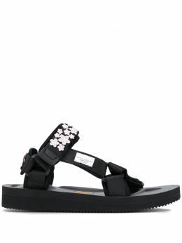 Cecilie Bahnsen сандалии на липучках с цветочной аппликацией PF20SH03