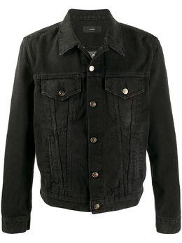 Alanui джинсовая куртка с узором LMYE003F20DEN001