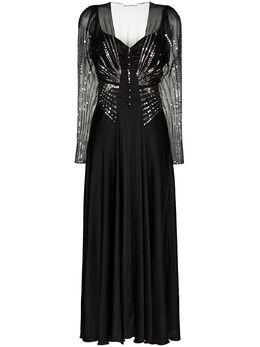 Paco Rabanne платье с пайетками 20ACRO248PO0180