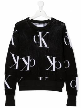 Calvin Klein Kids джемпер с логотипом вязки интарсия IG0IG00679T