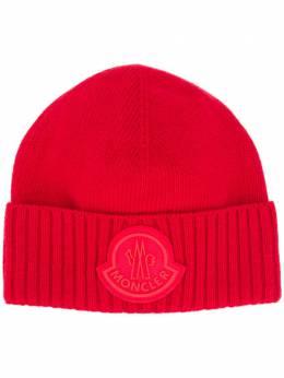 Moncler шапка бини в рубчик с логотипом F20919Z72600A9524