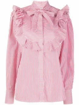 MSGM рубашка в полоску с оборками 2941MDE10A207674