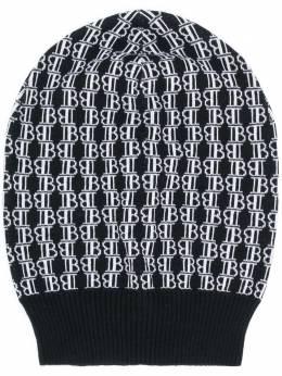 Balmain шапка бини с жаккардовым логотипом UH1A600K026