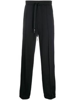 Neil Barrett спортивные брюки с кулиской и полосками PBJP221BP502