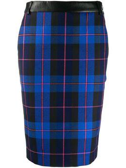 Boutique Moschino клетчатая юбка-карандаш J01016119