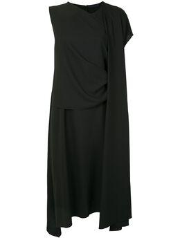 Juun.J платье с асимметричными рукавами JA0471W075AW20
