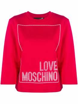Love Moschino топ с круглым вырезом и логотипом W637104E2182O85