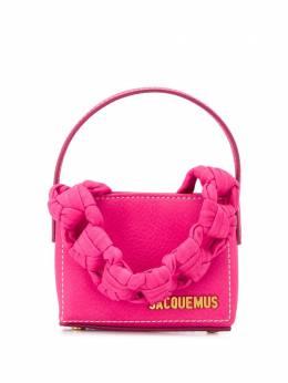 Jacquemus мини-сумка Noeud с плетеной ручкой 203BA10203304450