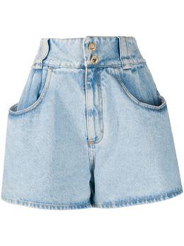 Alessandra Rich джинсовые шорты с завышенной талией FAB2253F30431721