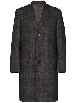 Canali однобортное пальто в клетку 57110FR02825