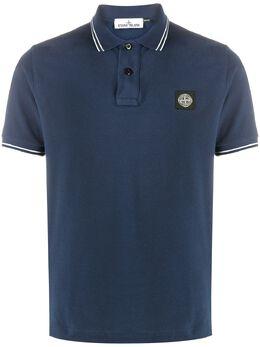 Stone Island рубашка поло с нашивкой-логотипом MO731522S18