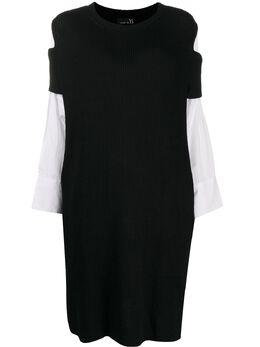 Y's трикотажное платье с контрастными вставками YBK79148