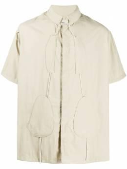 A-Cold-Wall* рубашка с нашивками и кулиской MH004WHLMB