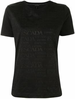 Escada футболка с вышитым логотипом 5033412