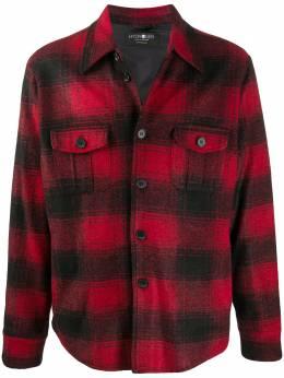 Hydrogen клетчатая рубашка с длинными рукавами 306B83FRB