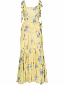Loveshackfancy платье макси Burrows с цветочным принтом LD942614BAREFOOTINTHESAND
