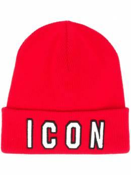 Dsquared2 шапка бини с надписью KNM000113620001