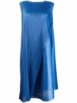 Pleats Please Issey Miyake плиссированное платье миди с запахом PP08JH734