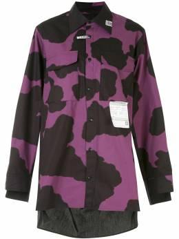 Maison Mihara Yasuhiro рубашка Holstein с вырезами B05SH191
