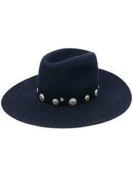 Maison Michel шляпа с декоративными пуговицами 1140002002