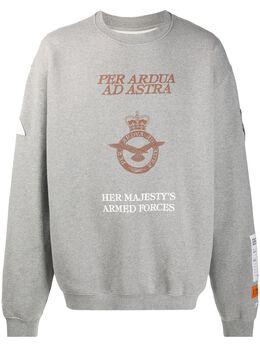 Heron Preston толстовка оверсайз Armed Forced HMBA014F20JER0170964
