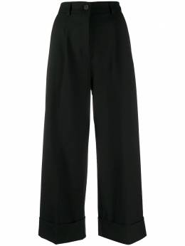 Semicouture wide leg cropped trousers Y0WL12