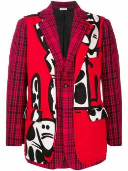 Comme Des Garcons Homme Plus однобортный пиджак со вставками PFJ05105112