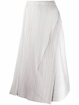Pleats Please Issey Miyake плиссированная юбка с запахом PP08JG733