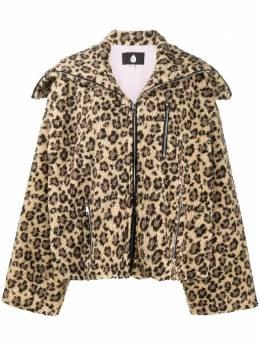 Natasha Zinko куртка оверсайз с леопардовым принтом PF20DUO4151501