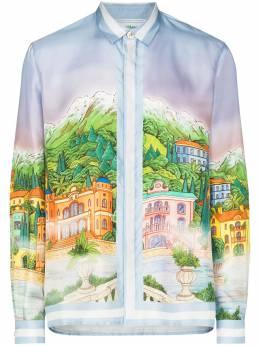 Casablanca рубашка с принтом MF20SH001