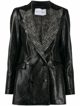 Hebe Studio блестящий приталенный пиджак H202BIBZBCLBCL
