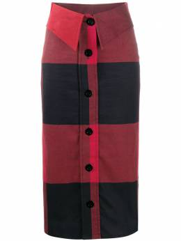 Moschino юбка миди в клетку A01025530