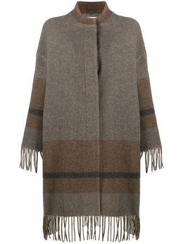Fabiana Filippi кардиган-пальто с бахромой CTD220W2370000C509