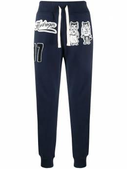 Hydrogen спортивные брюки с нашивками 274652