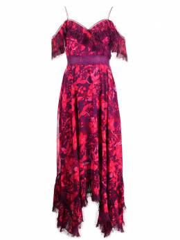 Alice + Olivia платье с цветочным принтом и плиссировкой CC006P09507