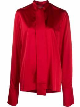 Materiel атласная блузка с бантом PF20AKN1006BLRD