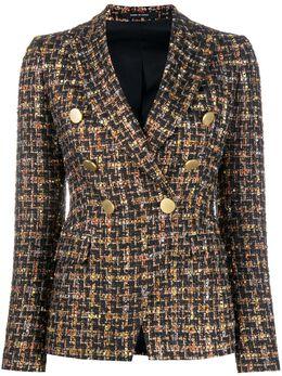 Tagliatore двубортный твидовый пиджак JALICYA10B16039