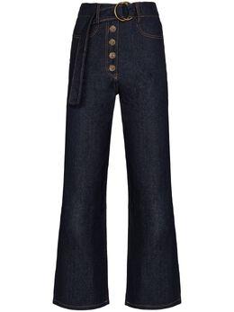 Rejina Pyo широкие джинсы Emily с поясом E050CottonDenimDarkBlue